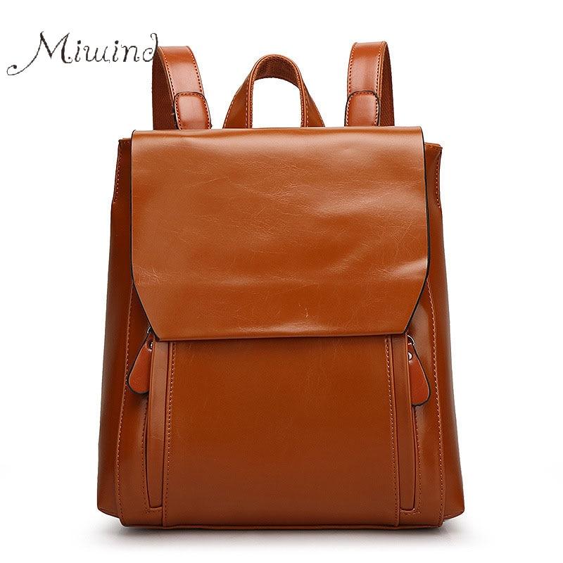 ФОТО 2016 vintage korean preppy designer leather women backpack school bag teenage girls travel laptop notebook rucksacks mochila