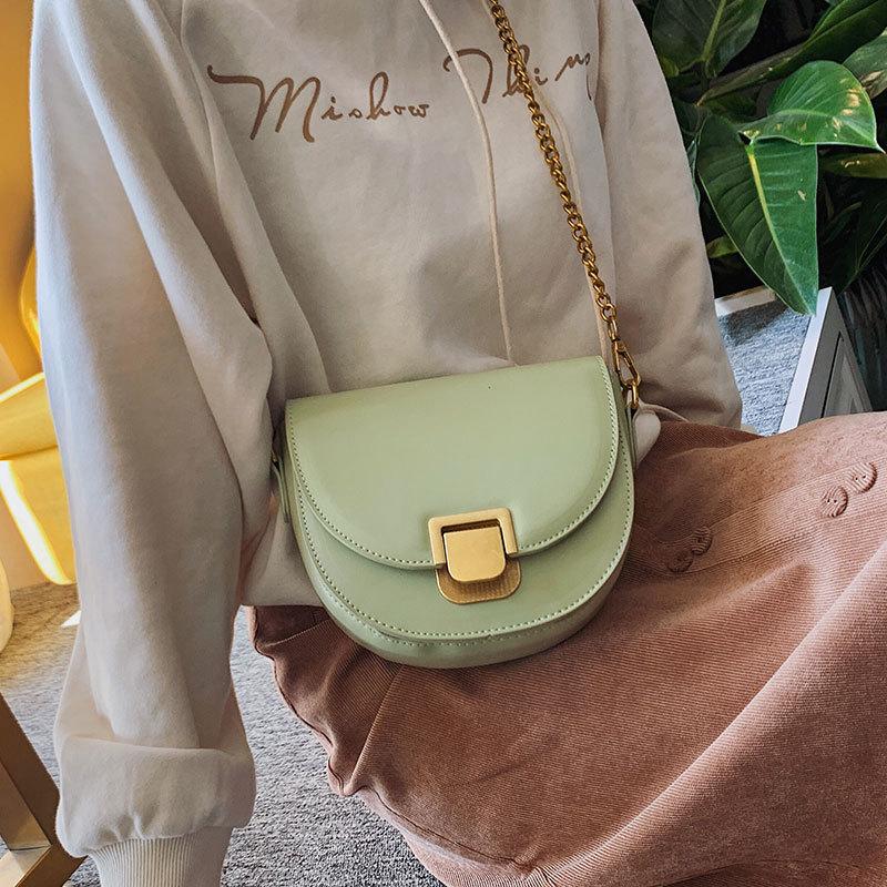 Women Leather Handbags Sac Famous Designer Crossbody Bag  Saddle Flap Chain For Girl Messenger Bag