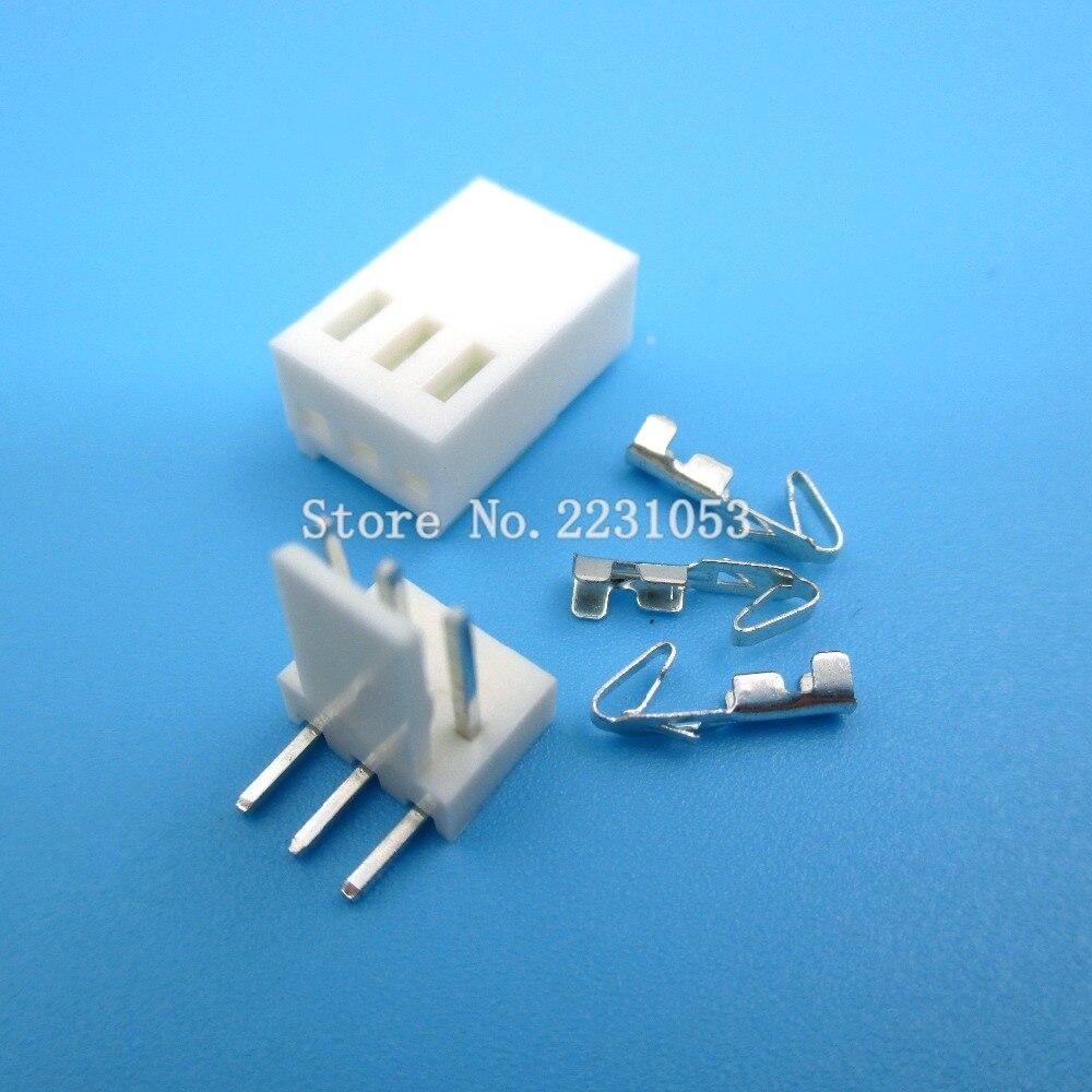 20 Sets KF2510 KF2510-3AW KF2510-3P Connector Right Angle Pin Header 2.54mm 3pin