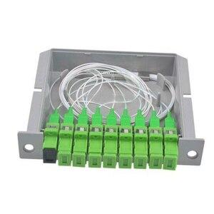 Image 2 - 10 pièces/paquet SC APC PLC 1X8 séparateur boîte à fibres optiques FTTH PLC diviseur boîte avec 1X8 planaire guide dondes type séparateur optique