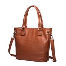 2016 High Quality Genuine Leather Messenger Crossbody Bags Women Real Leather Handbags Ladies Fashion Tote Shoulder Bag Handbag