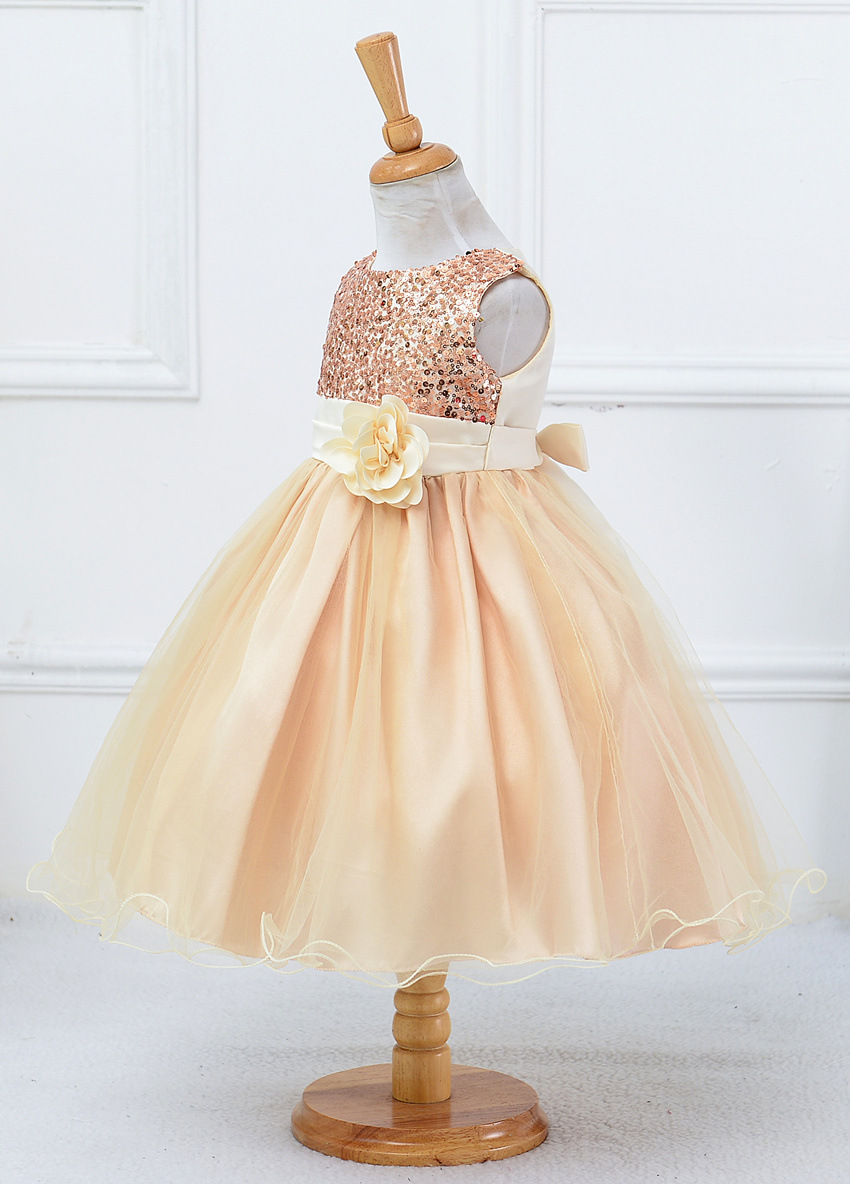 HTB1drmKPXXXXXcdXFXXq6xXFXXXD - 3-14yrs Hot Selling Baby Girls Flower sequins Dress High quality Party Princess Dress Children kids clothes 9colors