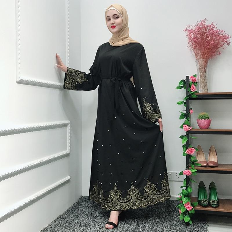 Vestidos Ramadan Kaftan Abaya Arabic Islamic Muslim Dress Caftan Marocain Kaftan Elbise Hijab Eid Dresses Robe