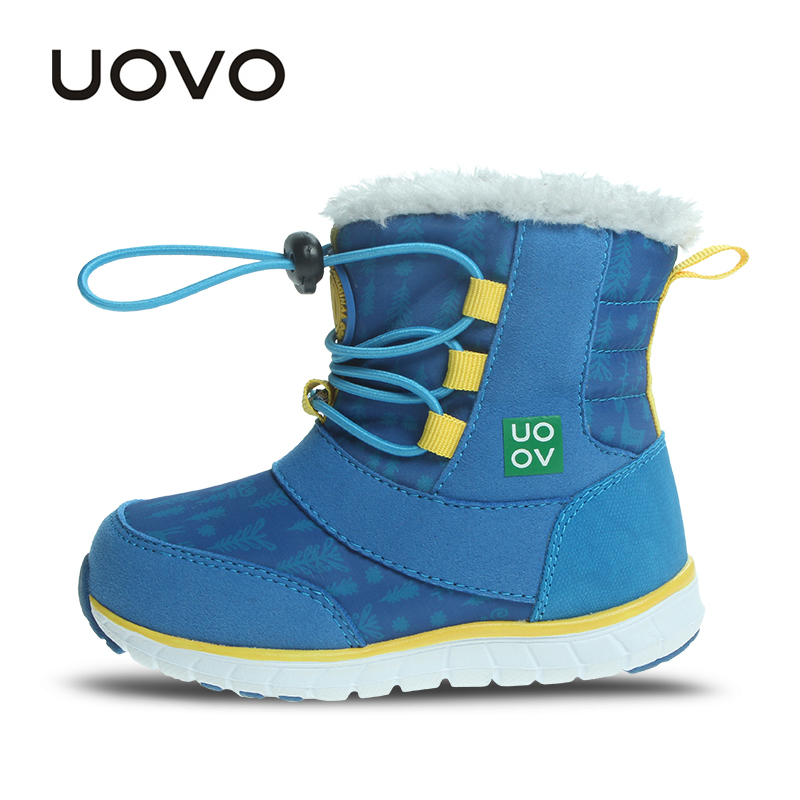 3840093b40cd UOVO 2019 Snow Boots Kids Winter Boots Boys Waterproof Shoes Fashion Warm  Baby Boots For Boys Toddler Footwear Size 23  30 -in Boots from Mother    Kids on ...