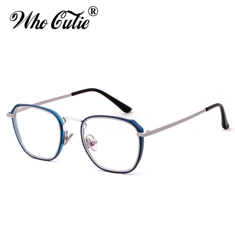 775a4230fc9d5c QUI CUTIE 2018 Carré Bleu Blocage Lunettes Cadre Hommes Femmes Faux Effacer  Lentille Optique Ordinateur Rétro ...