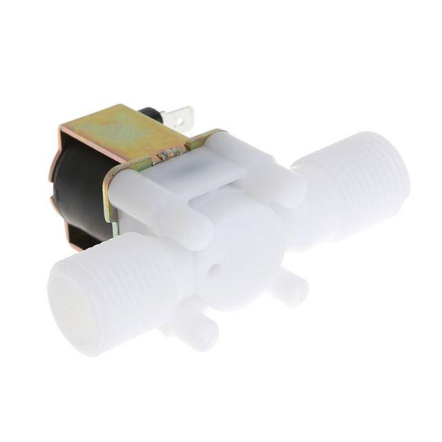 """Nueva válvula de solenoide eléctrica magnética DC 12V N/C interruptor de flujo de entrada de aire de agua 1/2"""""""