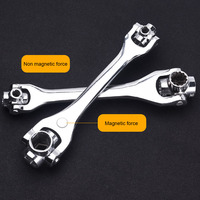 8 in 1 multi functional wrench rotary multi head outer six angle sleeve universal wrench set hand tools
