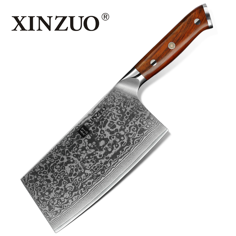 XINZUO 6 5 inches Slicing Knife Damascus Steel Kitchen Knives High Quality Japanese Steel Cleaver Chef