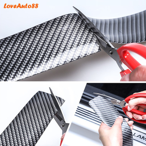 Image 5 - Car styling Carbon Fiber Rubber Door Sill Protector Goods For Mitsubishi Lancer 9 10 Car Accessories interior 2018 2019