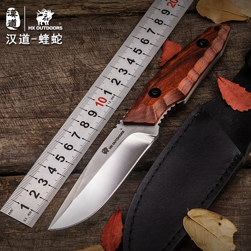 HX OUTDOORS Rosewood Handle Straight Knife 440C Blade Tactical Survival Outdoor Camping Knives Multi Hunting Knife EDC Tools hx outdoors d2 blade knife camping saber tactical fixed knife zero tolerance hunting survival hand tools quality straight knife