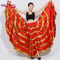 2015 Nueva gypsy falda/de vientre de la danza de la falda/falda de vuelo/Flamenco/Danza Del Vientre