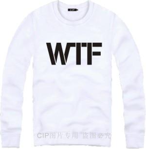 Brand hip hop swag sweatshirt for men women fleece wtf printing o neck pullover hoodie plus size 8 colors