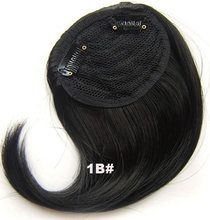 Girlshow clip on hair fringe clip in hair bang synthetic side hair bang hair extension 1pc 16 colors available(China)