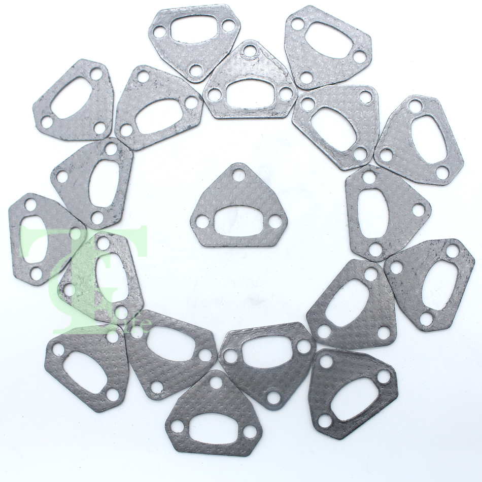 20Pcs/lot Exhaust Muffler Gasket For HUSQVARNA 136 136LE 137 137E 141 141LE 142 142E 41 36 Chainsaw Engine Parts