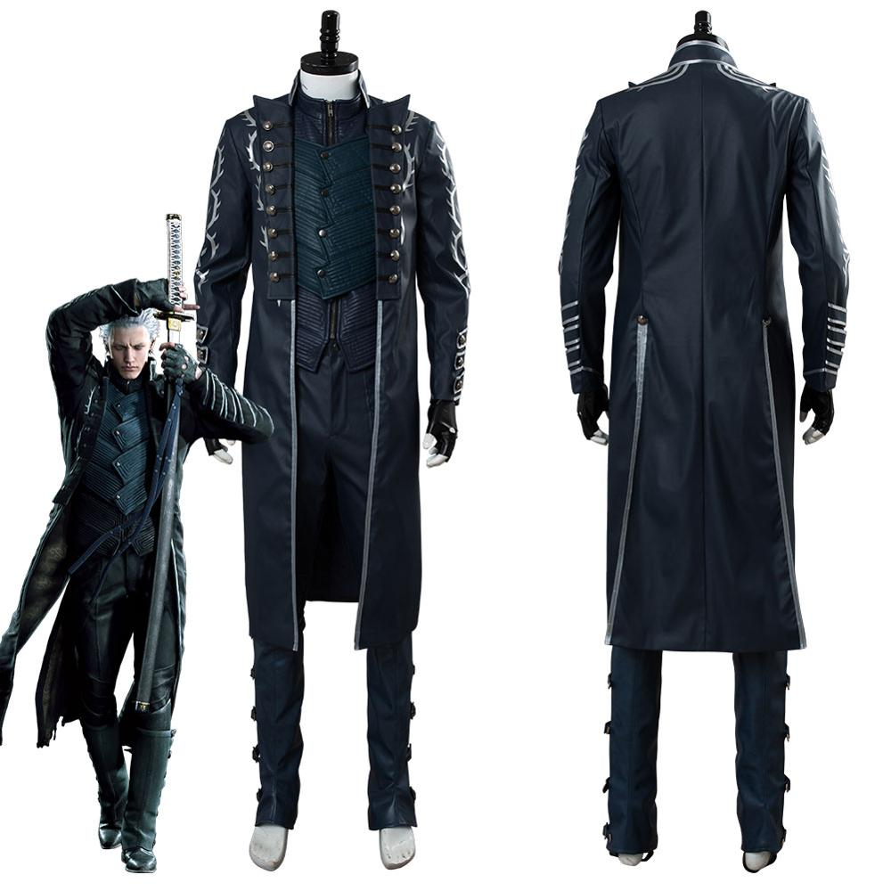 DMC Devil May Cry IV 4 Dante Halloween Cosplay Costume Outfit Coat Suit Full Set
