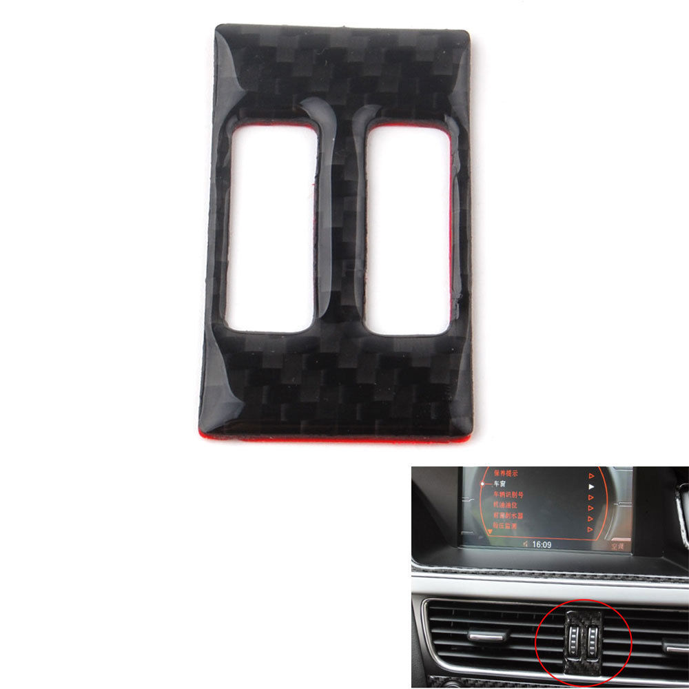 Carbon Fiber Car Middle Console Air Vent Outlet Cover Trim Sticker For <font><b>Audi</b></font> <font><b>A4</b></font> B8 A5 <font><b>2013</b></font> 2014 2015 Accessories Car Styling image