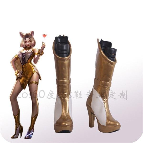 Mdr KDA Group Kaisa Ahri Akali Evelynn nouvelles chaussures Cosplay bottes A