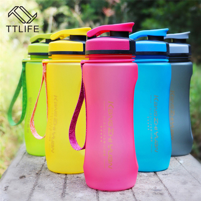 US $12 65 34% OFF|TTLIFE BPA Free Leak Proof Seal 600ML Sport Bicycle  Plastic Water Bottles With Cover Lip Filter Portable Space Water Bottle-in  Water