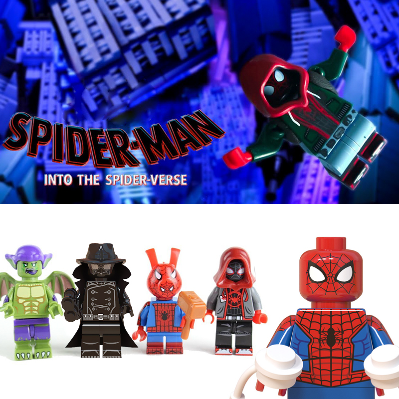 Dubbi Dolls Legos Marvel Spider-Man Into The Spider-Verse Miles Morales Gwen Stacy Peter Parker