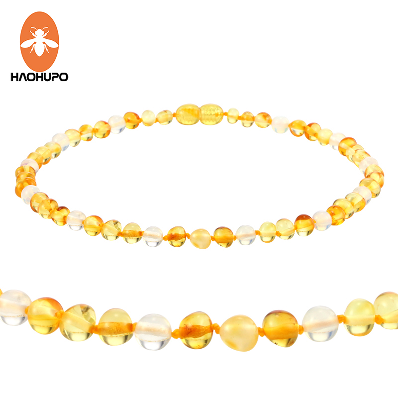 85c30cbd4e726 US $10.34 5% OFF|HAOHUPO Amber Teething Necklace Jewelry Gifts for Baby  Boys Women Natural Amber Beads Children Necklace with Genuine Moonstone-in  ...