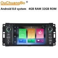 Ouchuangbo אנדרואיד 8.0 אודיו לרכב רדיו gps לקרייזלר סברינג דודג 'דקוטה דורנגו אספן