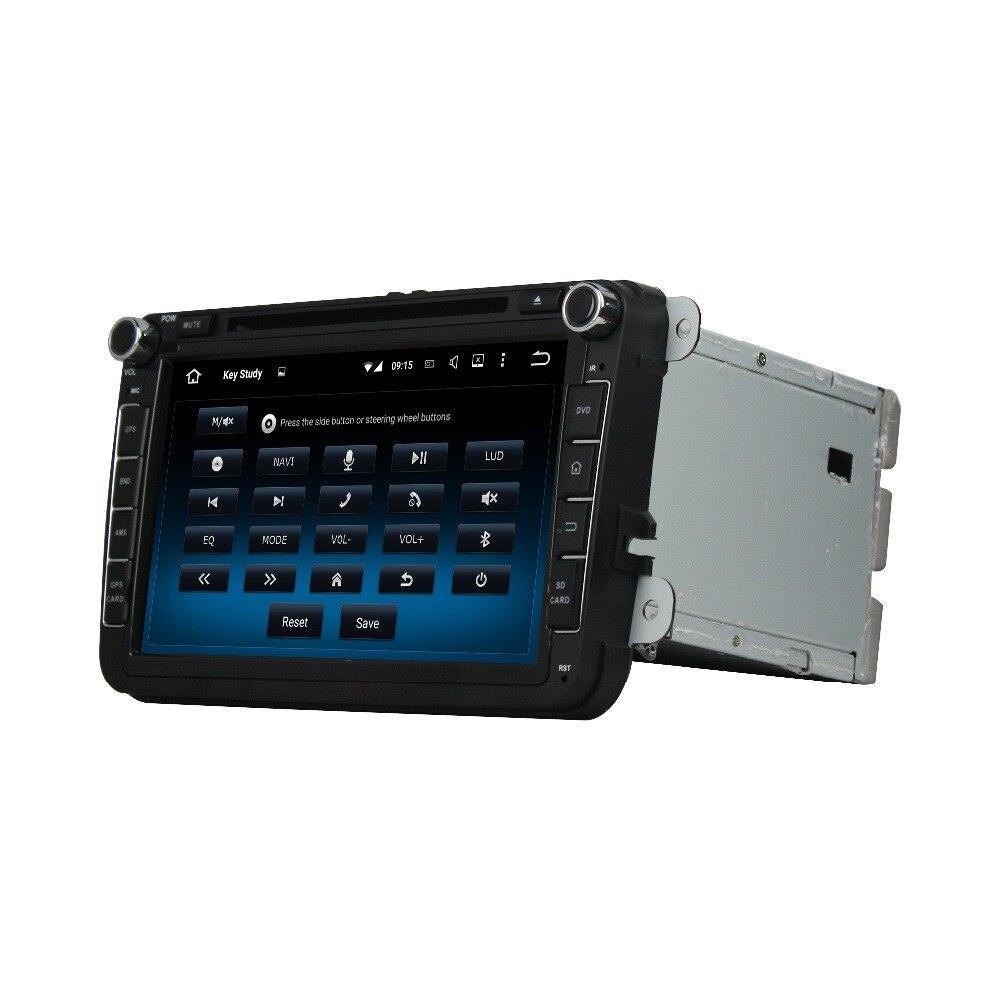 Fit for Skoda Octavia II FABIA SUPERB Octavia III 2 3 8 android 7.1.1 system HD 1024*600 car dvd player gps radio 3G wifi
