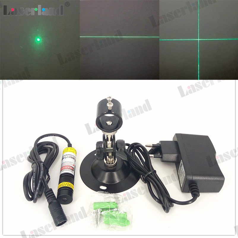 1668 510nm 515nm 520nm 10mW 30mW 80mW Dot Line Cross Green Laser Module Diode For Wood Fabric Cutting Cutter Adapter Mount