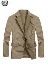 ecb439c3aa9 Primavera de 2019 envío caída chaquetas de algodón Casual Blazer chaquetas  solo Breasted de moda Casual chaqueta militar chaquet.