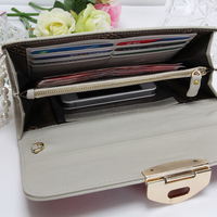 Multi fuctional Genuine Leather fresh classic purse stone magnet short RFID blocking dollar wallet for girl zipped