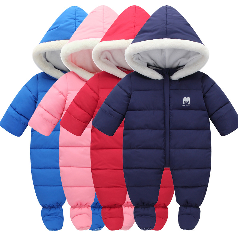 Children winter feather cotton climbing clothing jeans baby home warm clothing11