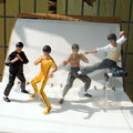 4pcs/set Brand New Cool Kong Fu Action Figure Model Toys Bruce Lee 10cm PVC Figure Model Toy For Gift/Collection/Kids