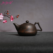 JIA-GUI LUO 600MLL Purple Clay yixing teapot  traditional chinese tea set  oolong tea Portable travel tea set  H027 цена
