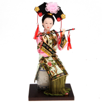 kawaii Chinese crafts Beautiful Antique Chinese Princess Beijing silk Doll Chinese style home accessories ornaments