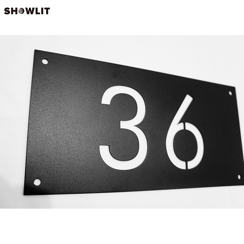BLACK HOUSE NUMBERS WALL INSTALL ADDRESS SIGNS