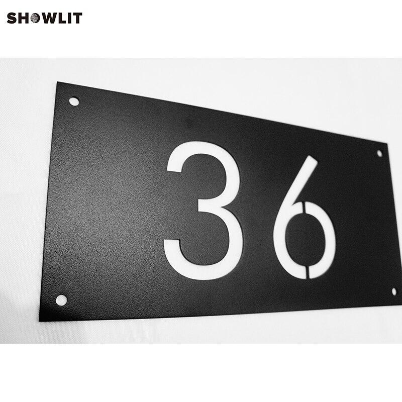 SCHWARZ HAUS ZAHLEN WAND INSTALLIEREN ADRESSE ZEICHEN-in Türschilder aus Heimwerkerbedarf bei AliExpress - 11.11_Doppel-11Tag der Singles 1