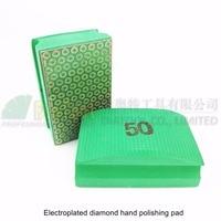 DIATOOL 2pcs Grit #50 Electroplated Diamond Hand Pad 90X55MM Hard Foam-backed Polishing Block For Marble Granite Tile Stone