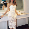 Bqueen 2017 New Lace Embroidery Spaghetti Strap Sleeveless Summer  Dress Hot Party Dresses  With Factory Direct