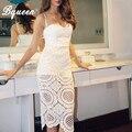 Bqueen 2017 new lace bordados spaghetti strap mangas summer dress vestidos de festa quente com direto da fábrica