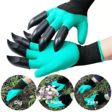 1 pair Latex Gardening Glove With Fingertips Claws Home Cleaning Raking Digging Planting DROP SHIPPING OK