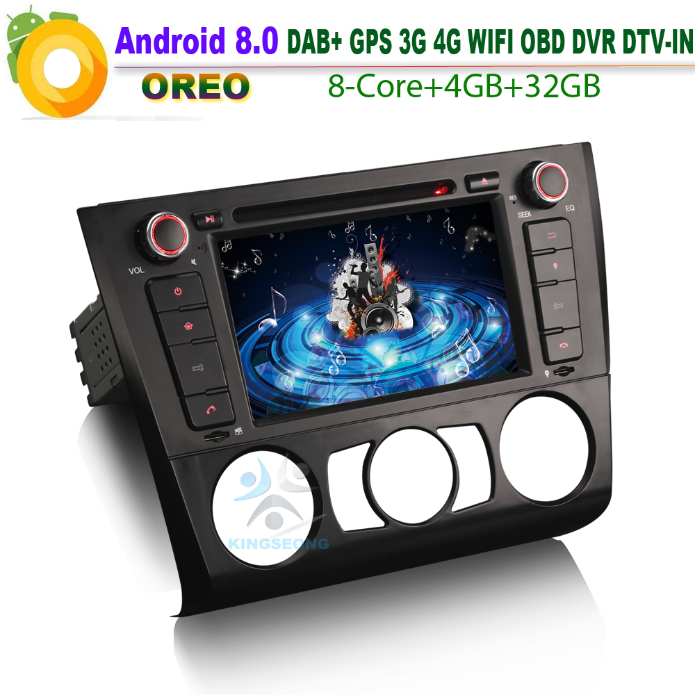 Android 8.0 DAB+ GPS DVD SD RDS BT USB DTV-IN OBD Car CD Player For BMW 1 Series E81 E88 E82 Coupe Convertible Autoradio WiFi 3G