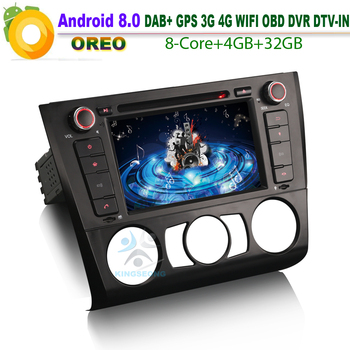 Android 8.0 DAB+ GPS DVD SD RDS BT USB DTV-IN OBD Car CD Player For BMW 1 Series E81 E88 E82 Coupe Convertible Autoradio WiFi 3G image