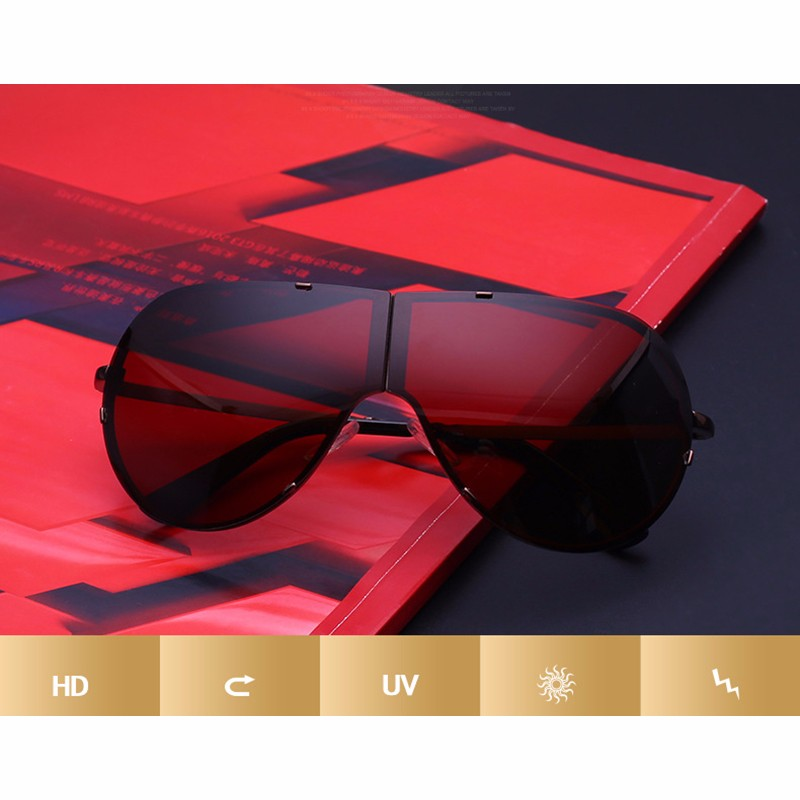 Lager Motorcycle Sunglassses Men Women Oversize Frameless Sunglasses Foldable Glasses Big Moto Goggles 8487 (9)