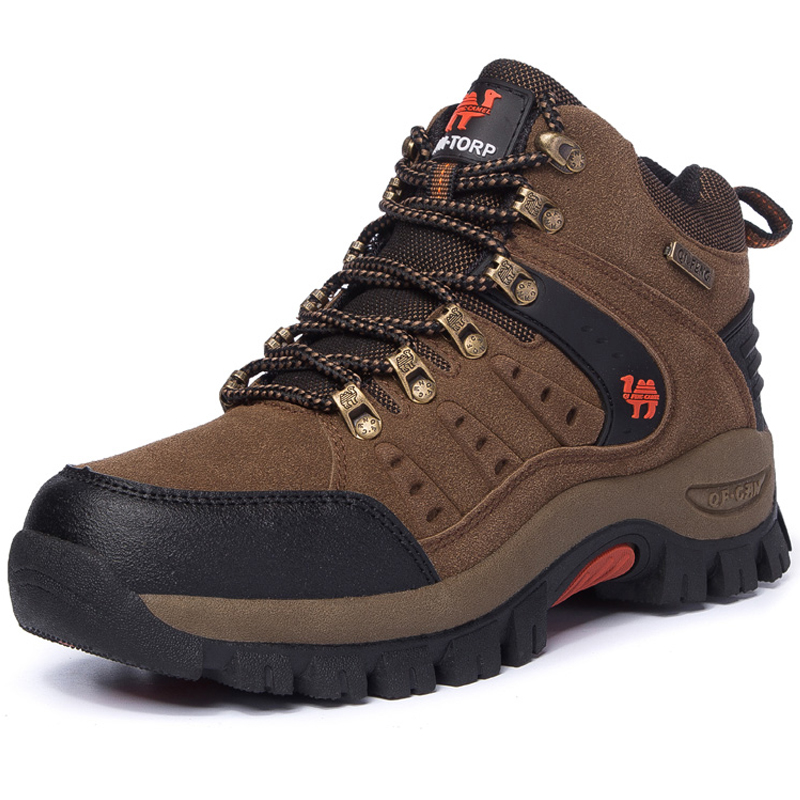 High Quality Men Hiking Shoes Thick Sole Rubber Walking Sneakers Top Male Sports Shoes Outdoor Men Camping Mountain Shoes Brand hot sale 2016 top quality brand shoes for men fashion casual shoes teenagers flat walking shoes high top canvas shoes zatapos