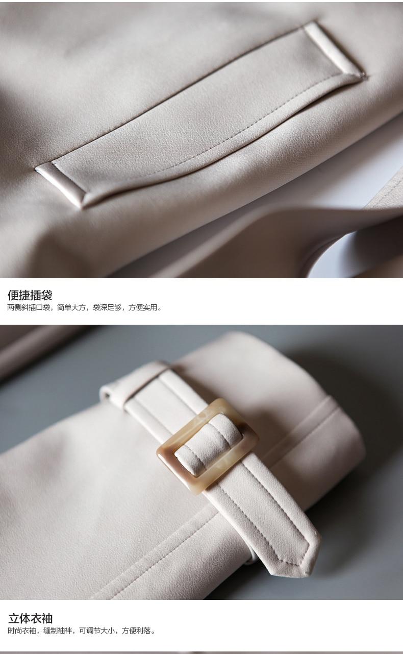 Noir Taille De 2017 Balck Plus Double A455 Poussière Marque Blanc Femmes Long Automne Hiver Piste Manteau beige Breasted La Trench Défilé Haute Qualité PrqPZHSw