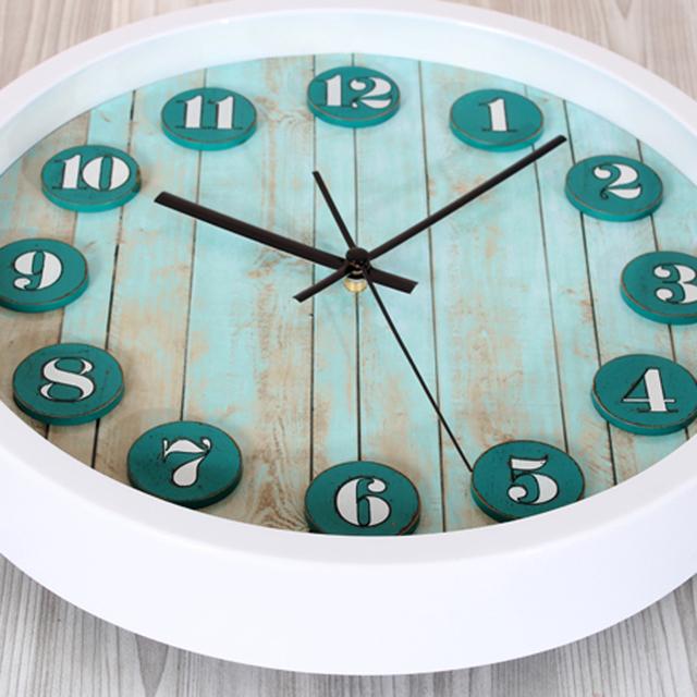 Forest Small Deer European Vintage Wall Clock Digital Countryside Fashion Design Round Wall Clock Silent Non-tickingWall Clock