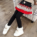High Quality Girls Pants New 2017 Retail Children Autumn Winter Skirts Leggings Girls Skirt-Pants Faux Two Piece Girl Clothes
