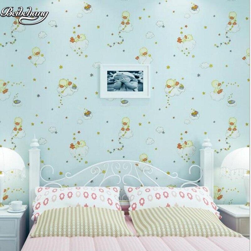 beibehang Children 's Room Duckling Dropping Green Cloth Wallpaper Sky Blue Goose Yellow Bedroom Full House Decorative blue sky чаша северный олень