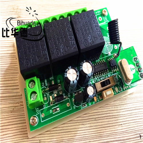 433Mhz Universal Wireless Remote Control Switch DC 12V 3CH Relay Receiver Module and RF Transmitter 433 Mhz Remote Controls universal wireless remote control light switch dc 5v 10a 1ch receiver relay rf transmitter 433mhz controls for door garage