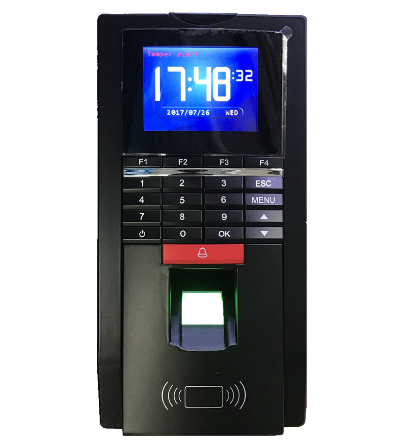 TCP/IP Realand MF131 Fingerprint Entrance Guard Access Control and Time Attnedcne Terminal Support Spanish Arabic Language gprs real time fingerprint access guard tour system
