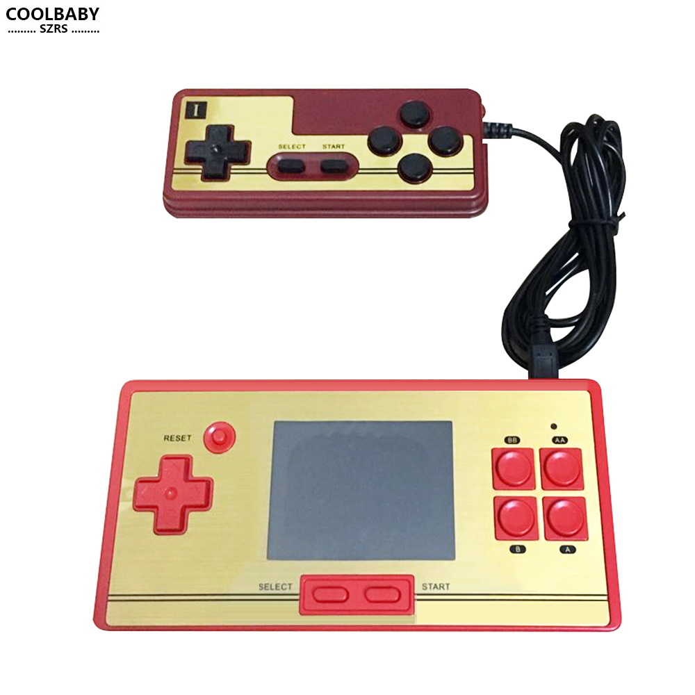 COOLBABY RS-20H 2.0 polegadas tela colorida de lcd game console com 600 lista de jogos de vídeo game 8bit jogo duplo handheld